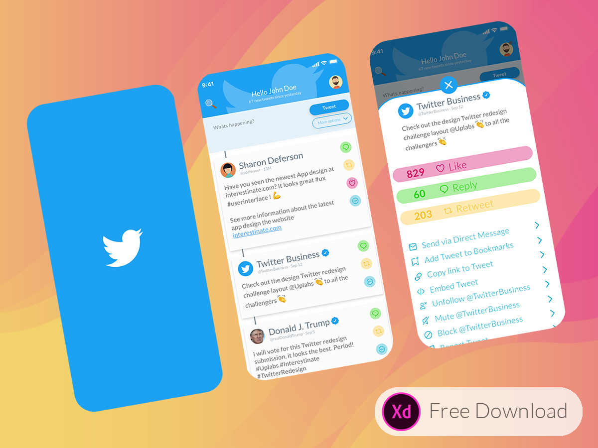 A redesign of the Twitter App